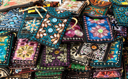 Royalty Free Photo of Embroidered Oriental Patterned Purses