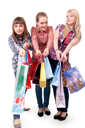 Royalty Free Photo of Girls With Shopping Bags