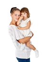 Royalty Free Photo of a Mother Holding Her Daughter