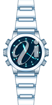 Illustration of the abstract wrist watch