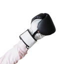 Royalty Free Photo of a Person Wearing a Boxing Glove