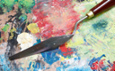 Royalty Free Photo of a Painting Palette With a Knife