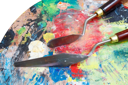 Royalty Free Photo of a Painting Palette With Knife