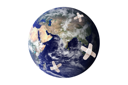 Royalty Free Photo of an Earth With Bandages