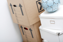 Royalty Free Photo of Moving Boxes