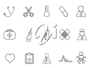 isolated simple medical outline icon from white background