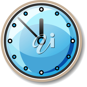 Royalty Free Clipart Image of a Shiny Clock