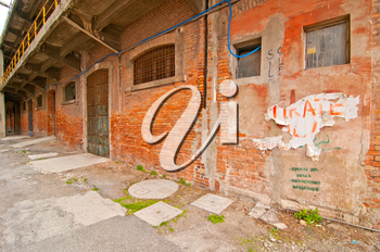 Venice Italy old  port industrial building now used by university