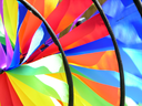 Royalty Free Photo of Colourful Wind Fans