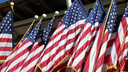 Royalty Free Photo of American Flags