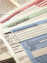 Royalty Free Photo of Federal Tax Forms