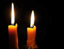 Royalty Free Photo of Candles Burning