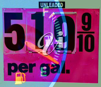 Royalty Free Photo of Gasoline Prices