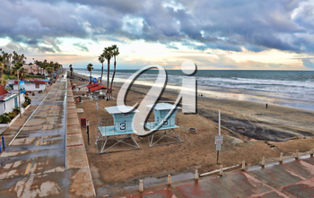 Royalty Free Photo of a Beach in California