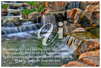 Royalty Free Photo of the Garden of Eden and Quote