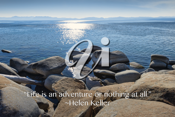 Royalty Free Photo of a Landscape With a Quote