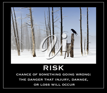 Royalty Free Photo of a Risk Poster