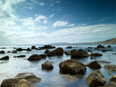 Royalty Free Photo of Rocks and Water