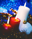 Christmas backgrounds with candles and garland for your design