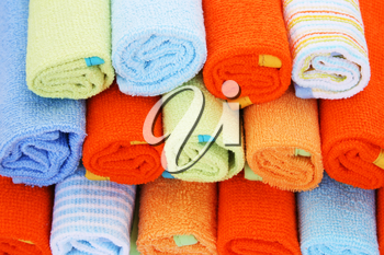 Royalty Free Photo of a Stack of Towels