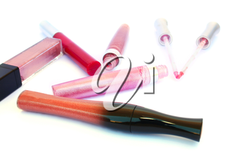 Royalty Free Photo of a Bunch of Lipgloss