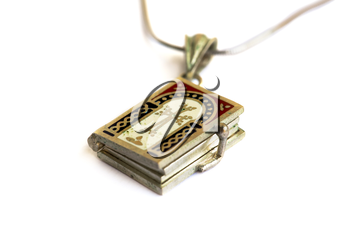 Royalty Free Photo of a Holy Bible Necklace