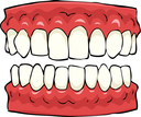 False teeth on a white background vector illustration