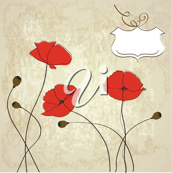 Royalty Free Clipart Image of a Poppy Background