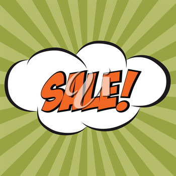 Speech Bubble in Pop-Art Style with message SALE, vector format