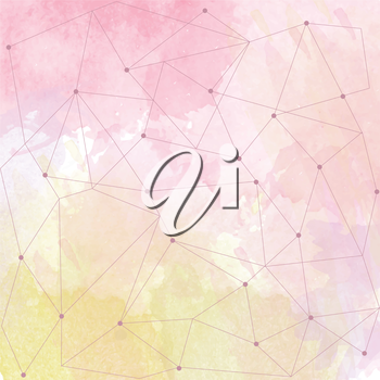watercolor background with triangle design, vector format