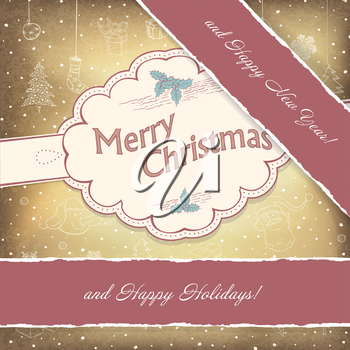 Happy Holidays Vintage Background. Vector, EPS10