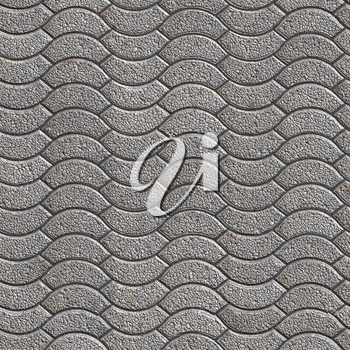Decorative Granular Gray Paving Slabs. Seamless Tileable Texture.