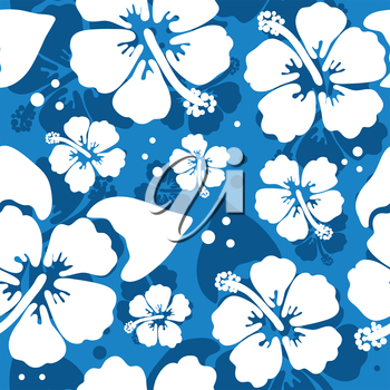 Royalty Free Clipart Image of a Hawaiian Hibiscus Background