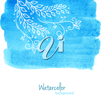 Vector illustration of Watercolor floral
