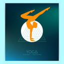 Vector illustration of Woman doing yoga asanas, flyers
