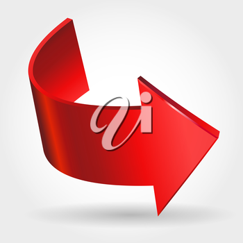Royalty Free Clipart Image of a Red Arrow