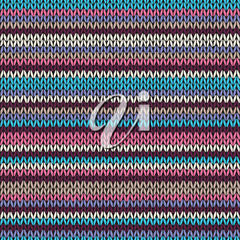 Seamless Color Striped Knitted Pattern