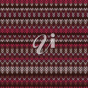 Knitted Seamless Red Color Striped Pattern