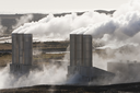 Geothermal power station in Iceland in a volcanic region of Iceland.