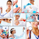 Collage of collection of medical and chemical  professionals