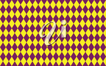 Abstract geometric seamless pattern of rhombus in purple and yellow colors