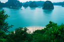 Islands and beach in Halong Bay, Vietnam, Southeast Asia
