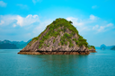 Scenic view of mountain islands in Halong Bay, Vietnam, Southeast Asia