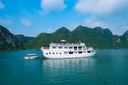 Cruise boat in Halong Bay, Vietnam, Southeast Asia