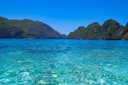 Tropical sea bay and mountain islands, El Nido, Palawan, Philippines