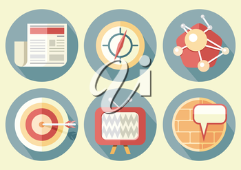 Business concepts icons in flat style project management and planning