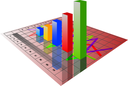 Royalty Free Clipart Image of a Business Graph