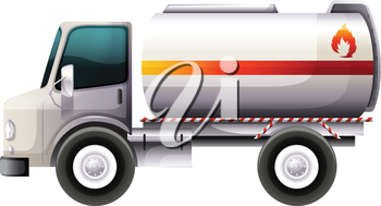 Illustration of a delivery truck on a white background