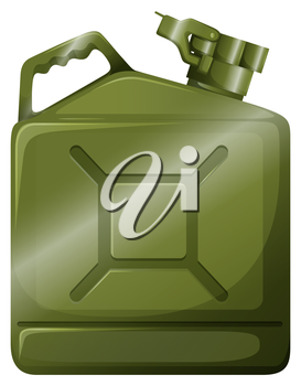 Illustration of an oil container on a white background