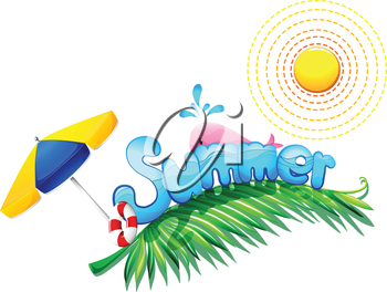 Illustration of a summer weather on a white background